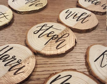 Wood Slice Name Place