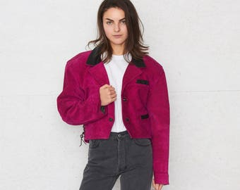 Vintage Pink Suede Jacket