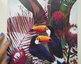 Quality print of an original mixed media artwork
