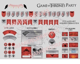 Printables Game of Thrones party - English