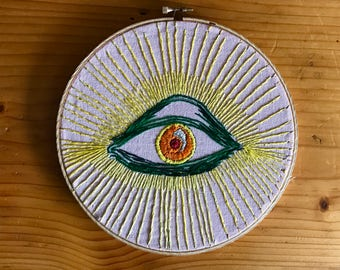Eye of Truth - Hand Embroidery