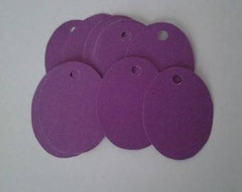 Paper gift tags, Gift tag set, Oval gift tags, Purple gift tags, Paper gift tag set, Party gift tags,Paper tag set,Paper tags for gifts