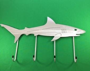 Wall Mounted Storage Hanger - Reef Shark Fish Replica