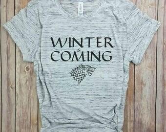Winter is coming, Game of Thrones, TV shirts, Mother Shirts, Dragon Shirts, Womens T-Shirt, Mama Shirts, Movie Shirts, Pop Culture Shirts