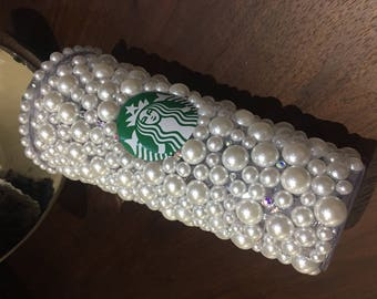 Mermaid Dreams Pearl and Bling Venti Starbucks Cold cup