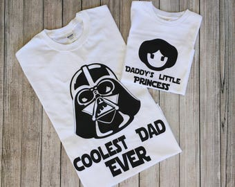 Star Wars Father Daughter Shirts,Coolest Dad and Daddy's Little Girl Shirts,FathersDay Shirt,Father Daughter Matching Shirts,FathersDay Gift