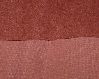 FAUX BROWN SUEDE FABRIC
