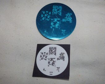 4 DESIGNS FOR NAIL ART STAMPING PLATE