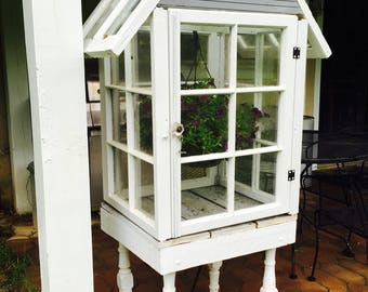 Shabby Chic Mini Greenhouse- Local Sales only
