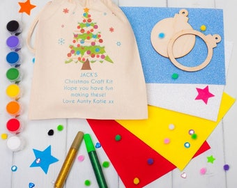 Personalised Make Your Own Christmas Bauble Craft Kit