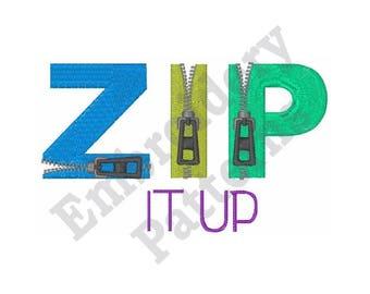 Zip Zippers - Machine Embroidery Design