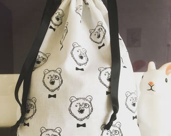 Bag pouch storage child / baby (pajamas, blanket and other treasures) bear Collection