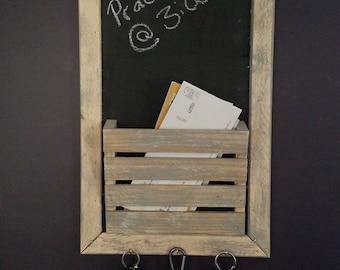 Weathered Chalkboard Organizer