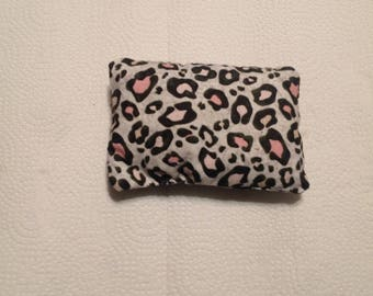Handsewn, animal print catnip pillow
