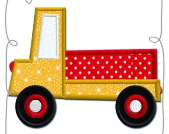 Truck Applique Machine Embroidery Design Pattern-INSTANT DOWNLOAD