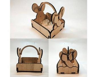 Laser Engraved/Cut - Wooden Flip Flops Basket - Bask-004