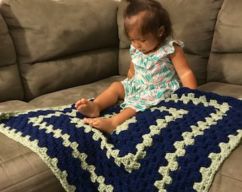 Crochet Giant Granny Square Twin Baby Blankets