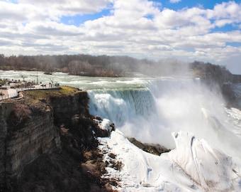Niagara Falls, 5 by 7 inch matted photograph, original color print