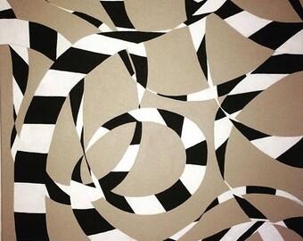 L.davis original acrylic abstract painting