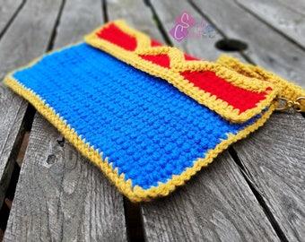 Wonderwoman Crochet Clutch