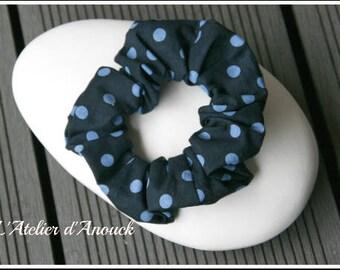 Navy Blue elastic scrunchie