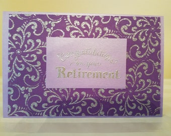 Congratulations on Your Retirement, Handmade Greeting Cards, Unique Greeting Cards, ReynoldsGrahamDesign, Retirement Card