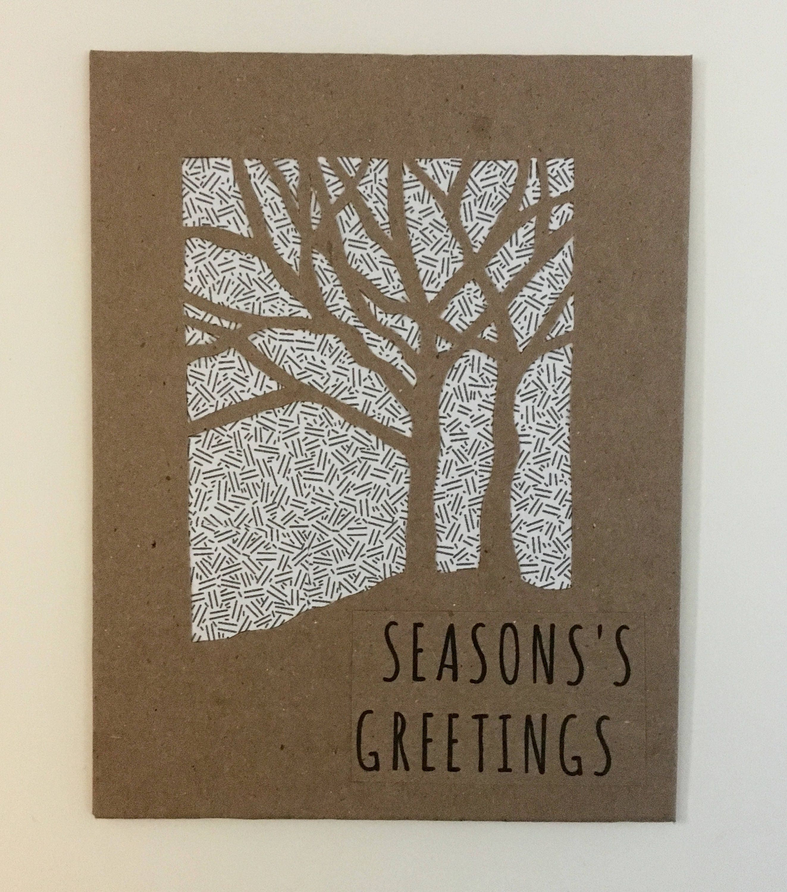 Holiday cards seasons greetings card greeting cards handmade holiday cards seasons greetings card greeting cards handmade seasonal card seasons greetings tree silhouette recycled paper kristyandbryce Images