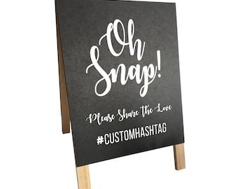 Instagram Sign - CUSTOM HASHTAG - Chalkboard, Wedding, Birthday, Engagement