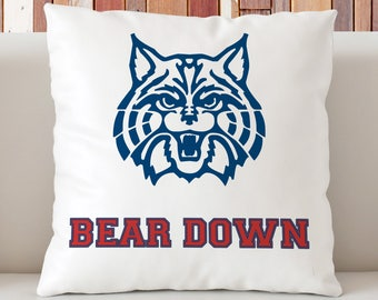 Arizona Wildcats Pillow, Bear Down Pillow, University of Arizona Pillow, UA Dorm Decor, Gift for UA Students, Wildcats Dorm Decor