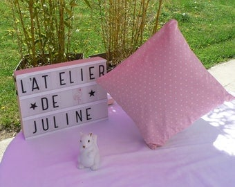 Powder Pink cushion with stars