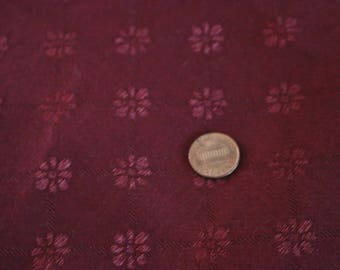 12 Beautiful patterned burgundy vintage upholstery fabric