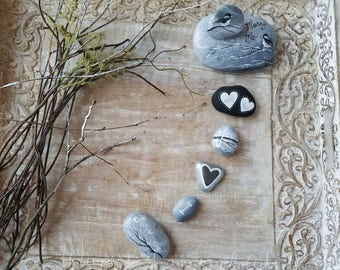 Winter Proposal, Valentine Engagement, Gift for Her, Engagement Gift, Proposal Gift, Painted Stones, Gift for Him, Marry Me Gift