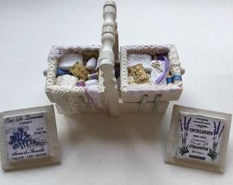 Miniature Shabby Haberdashery Sewing Box