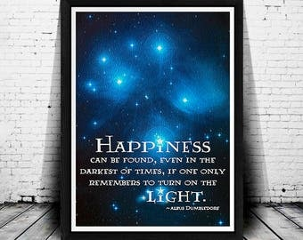 Harry Potter Quotes, Harry Potter Decor, Albus Dumbledore Quote, Harry Potter, Harry Potter Print, Large Poster Sizes, Galaxy Art, Painting