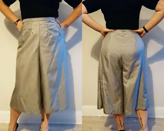 Handmade High Waisted Vintage Style Gingham Culottes