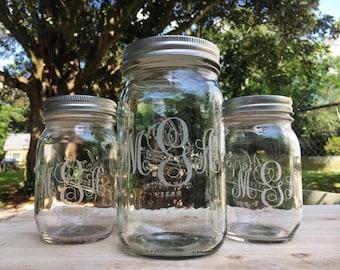 Custom Mason Jar (Quart)