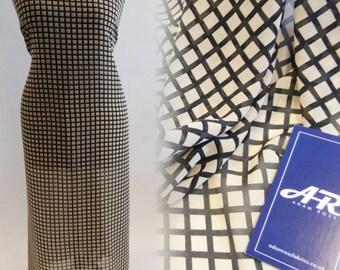 Black Check Print Fabric – Clearance