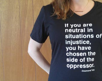 Injustice T-shirt| Resist T-Shirt | Resistance TS-hirt | Trump Resistance | Anti-Trump Shirt