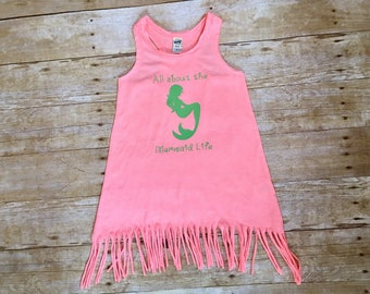 All about the mermaid life, mermaid fringe dress, mermaid life fringe dress, mermaid summer dress