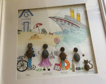 Bespoke pebble pictures made especially for your family