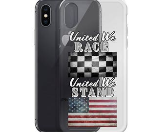 United We Race United We Stand iPhone Case (For Dark Phones)