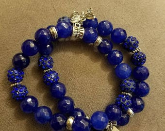 Dark Blue Agate Beads
