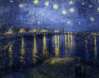 Inspirer Studio® Ultra Giclee on Canvas - Stretched - Ready to hang - vincent van gogh (starry night over the rhone)
