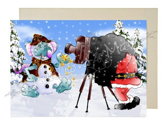 Christmas card Christmas card greeting card happy, gift card, mouse card, holiday card