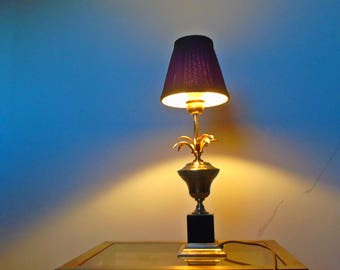 pine leaf table lamp hollywood regency palm french table lamp 60's