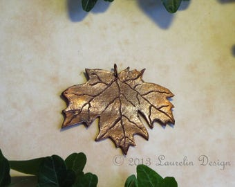 Special Feature: Copper Maple Leaf Pendant by Laurelin Design