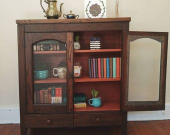 Refinished Antique Jelly Cabinet
