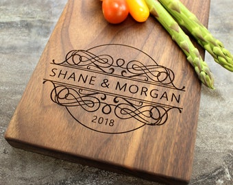 Personalized Cheese Board, Serving Board, Bread Board, Custom, Engraved, Wedding Gift, Housewarming Gift, Anniversary Gift, Engagement #32
