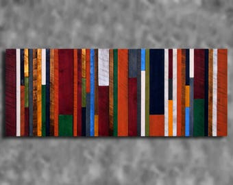 24x60 Wooden Barn Board Wall Art Sculpture Distressed Barn Board Abstract Clubhouse Rustic Modern Shabby Chic Primitive Decor CUSTOM MADE