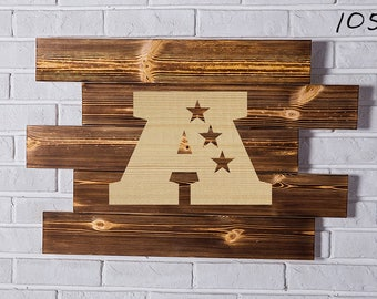 American Football Conference Wood Sign  American Football Conference Wall art  American Football Conference Gift